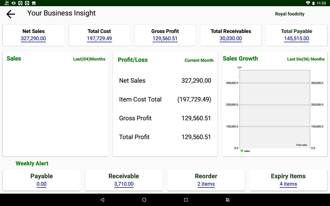 Business insight Dashboard